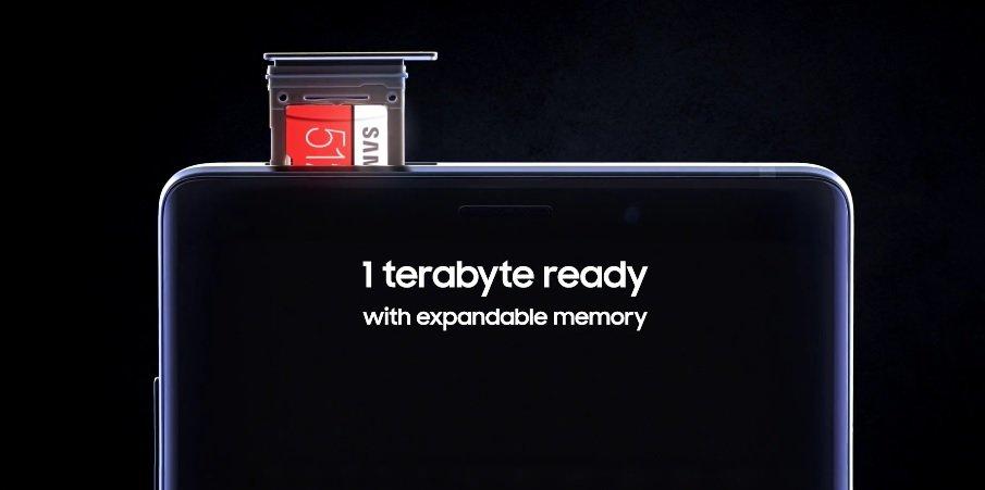 Samsung Galaxy Note 9 mit microSD-Karte