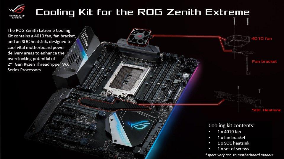 Cooling Kit für X399-Mainboards von Asus