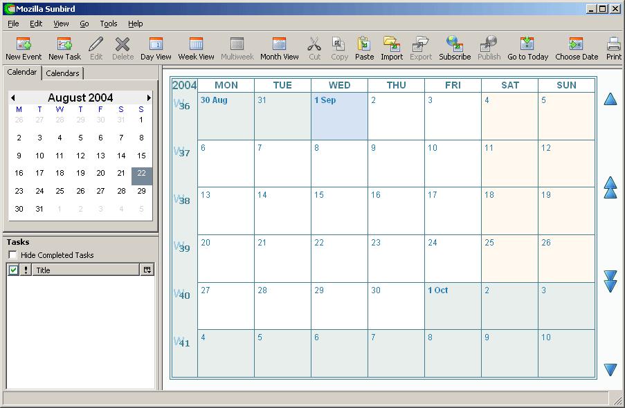 Sunbird Toolbar