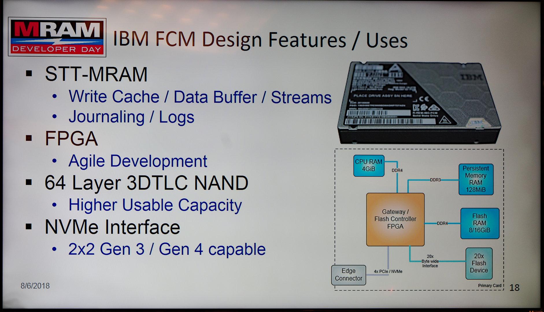 IBM FlashCore SSD mit STT-MRAM als zweiter Cache