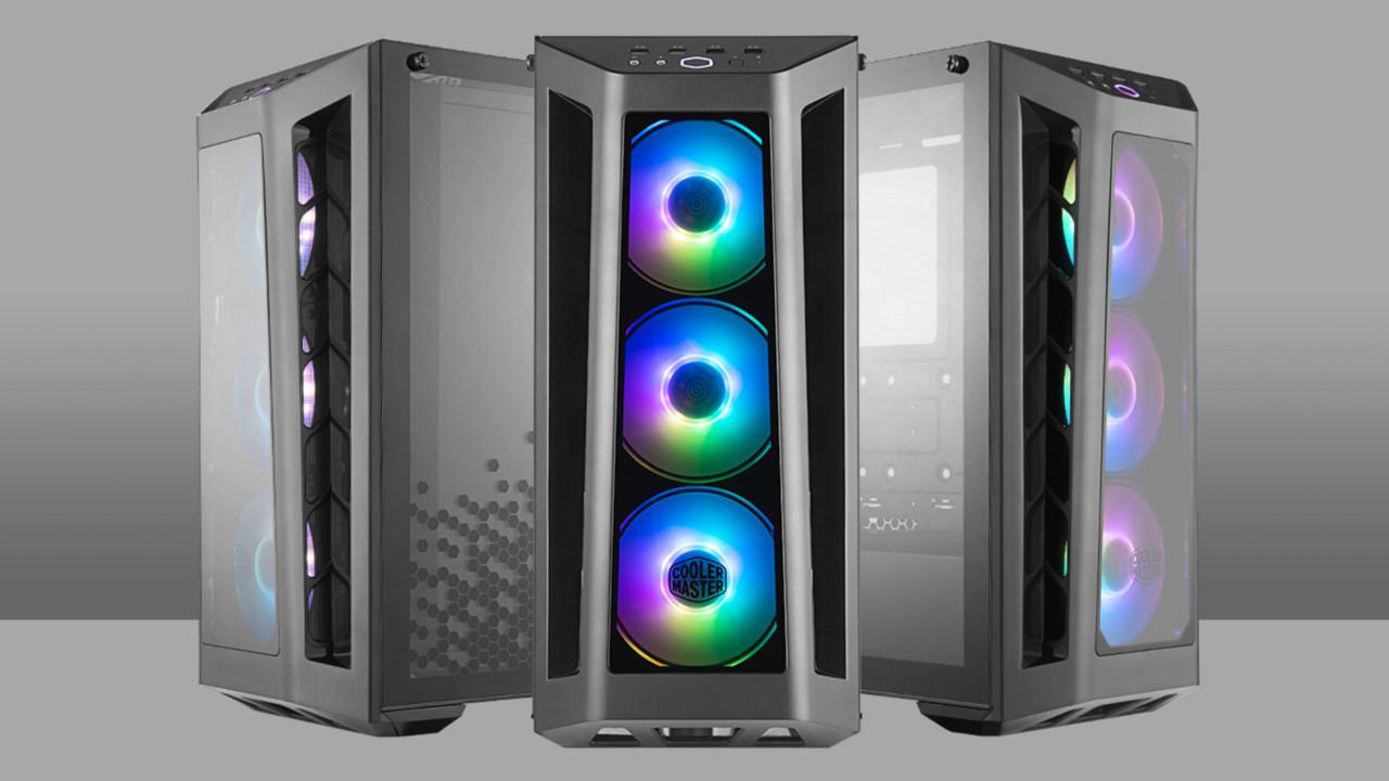 Cooler Master MB350P: MasterBox-Gehäuse mit dreimal Glas und RGB