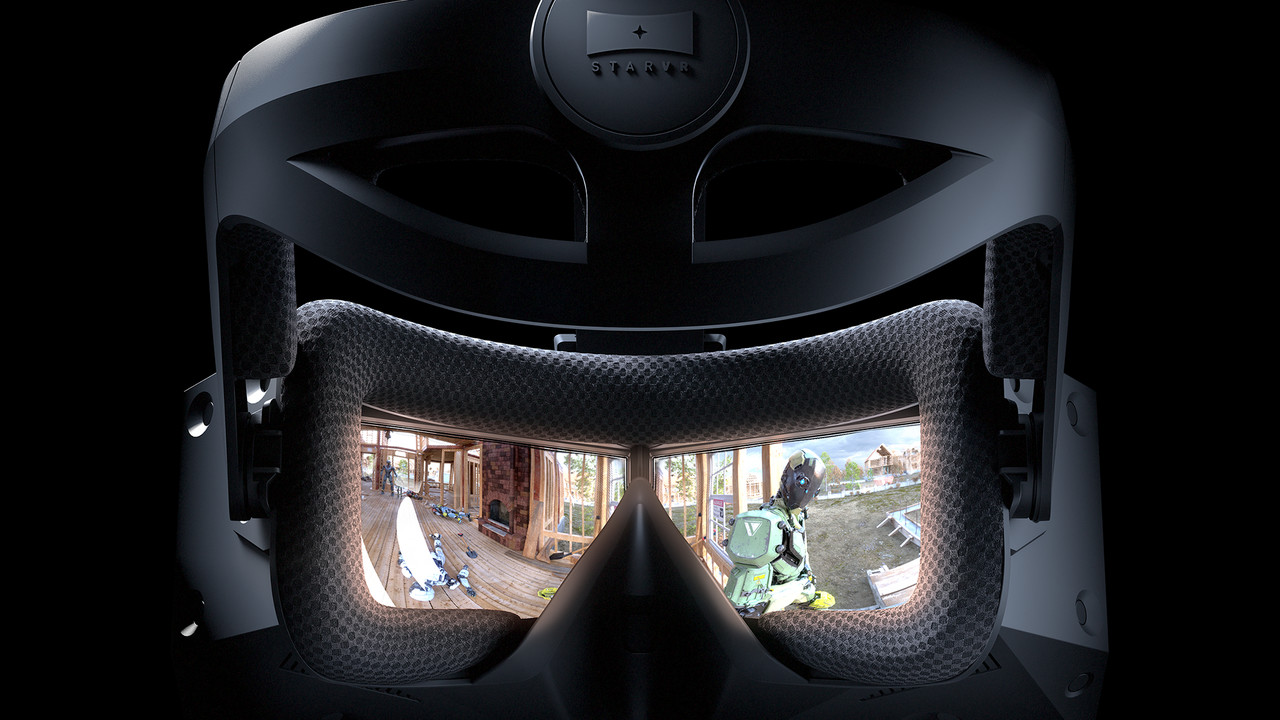 StarVR One: VR-Headset mit 210° FoV und Eye-Tracking