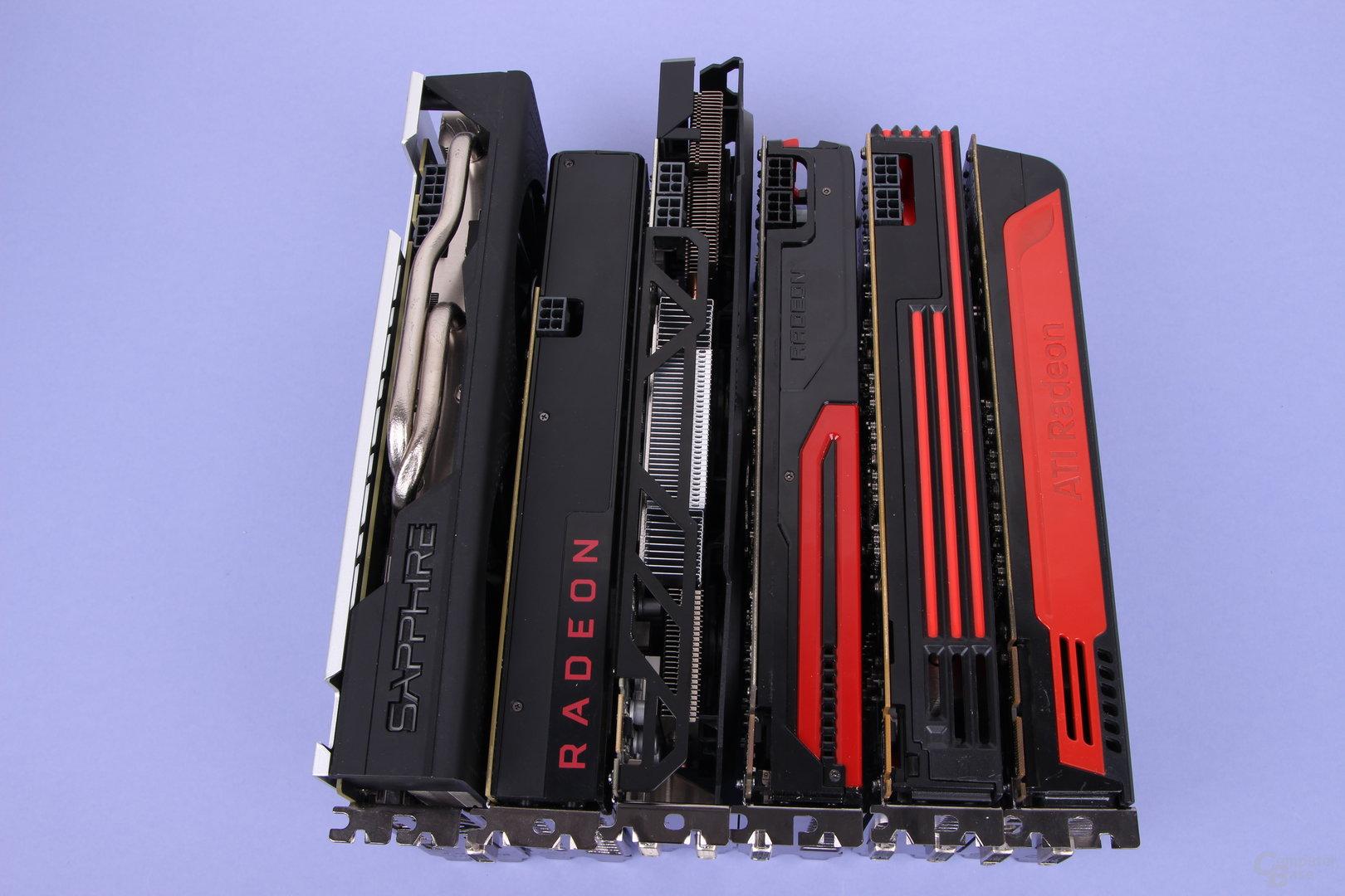 Grafikkarten-Generationenvergleich von AMDs Mittelklasse
