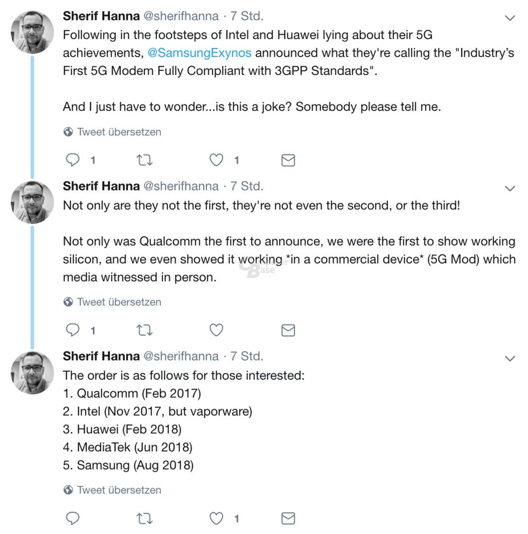 Sherif Hanna über Samsungs 5G-Modem Ankündigung