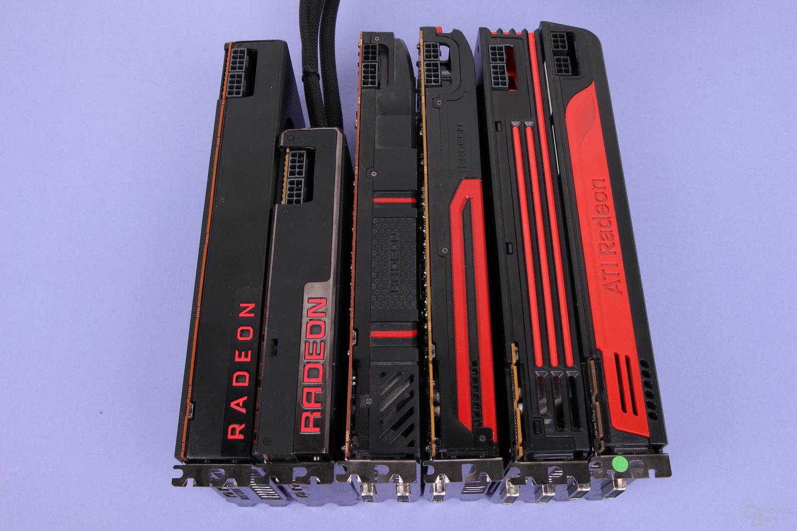 Grafikkarten-Generationenvergleich von AMDs High-End-Klasse