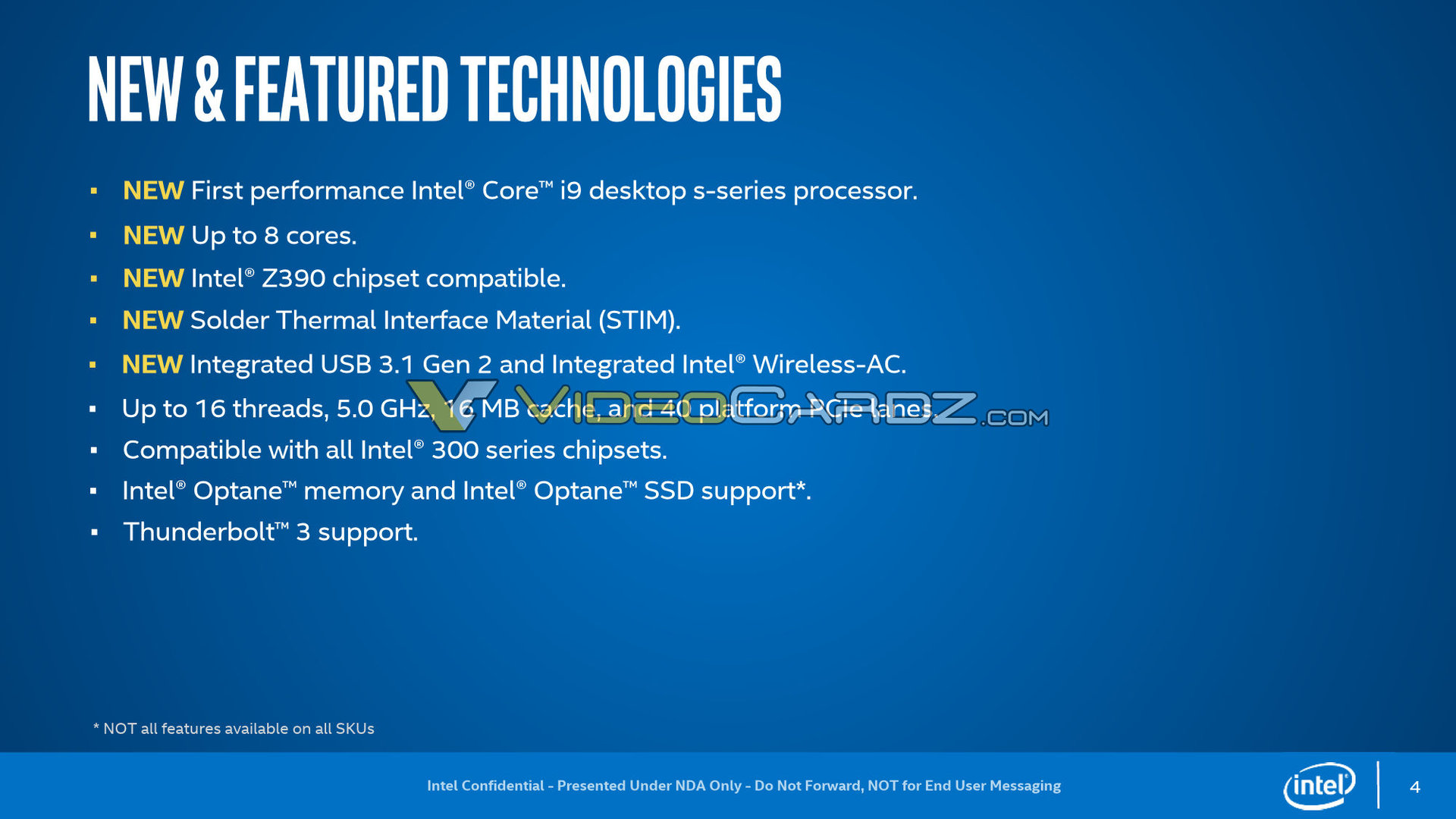 Intel verlötet 8-Kerner des Coffee Lake Refresh