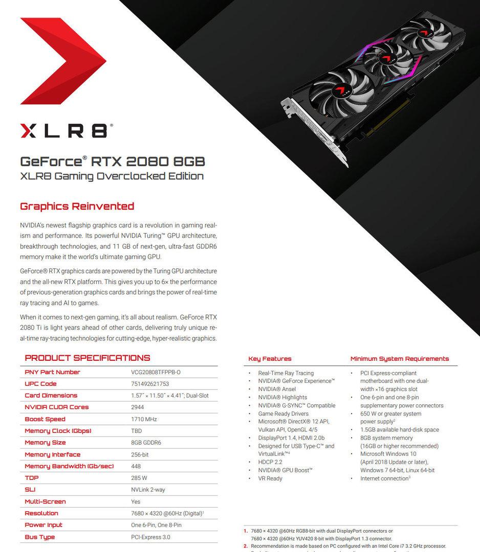 PNY GeForce RTX 2080 XLR8