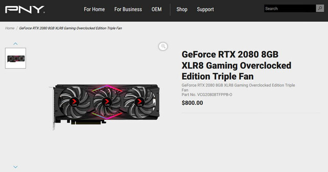 PNY GeForce RTX 2080 XLR8