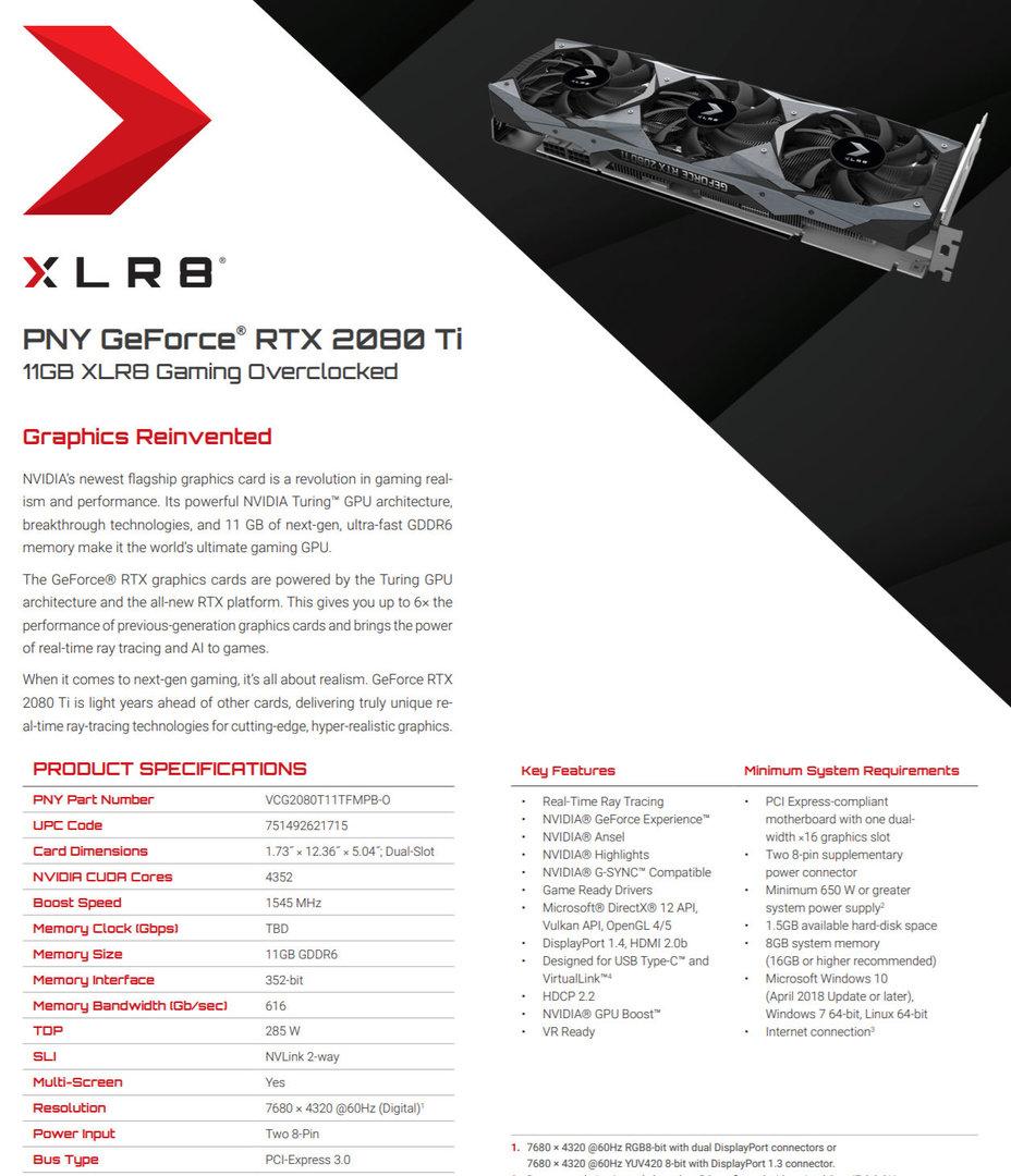 PNY GeForce RTX 2080 Ti XLR8