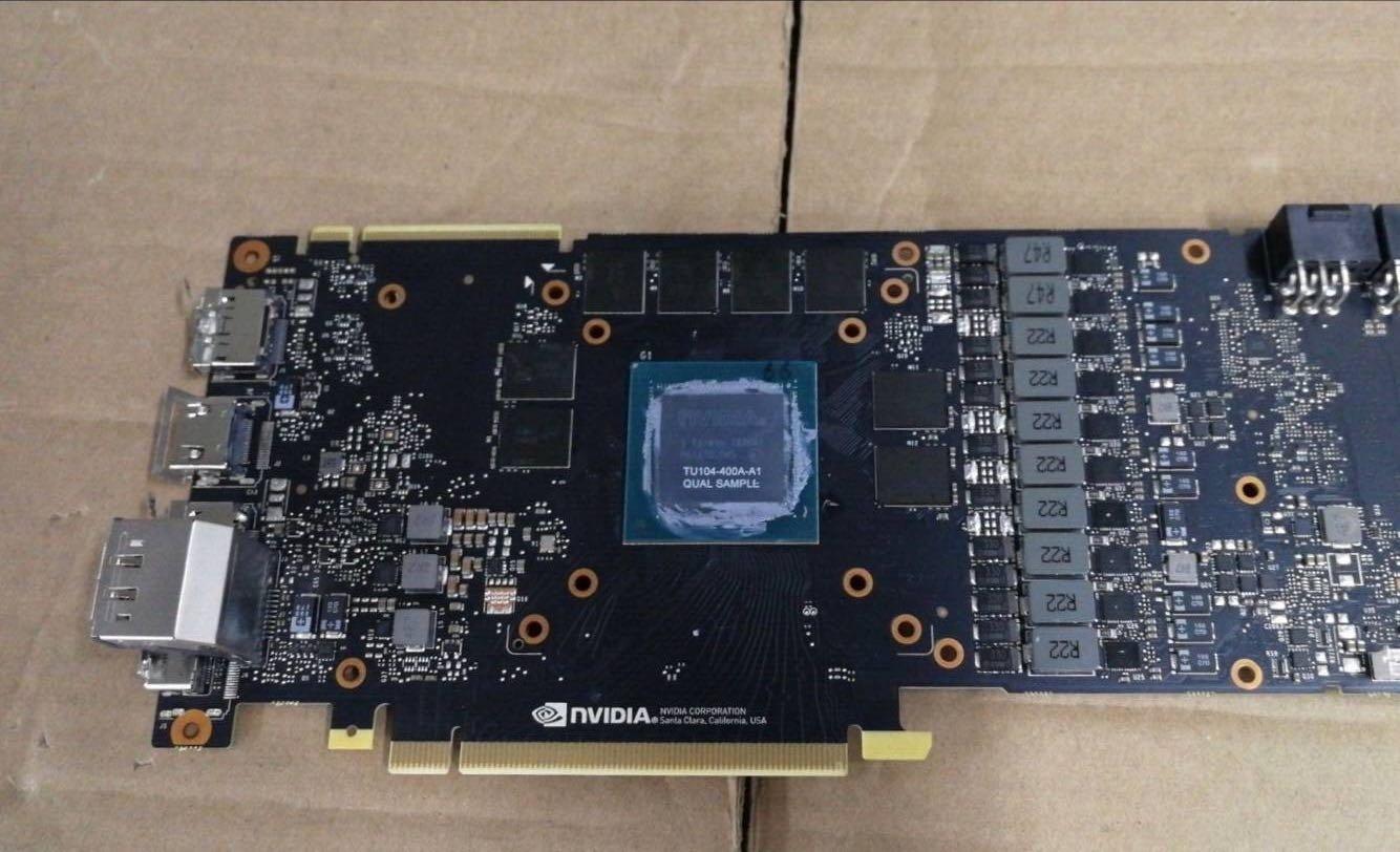 Nvidia-Referenz-Platine mit Turing-GPU (TU104) (GeForce RTX 2080?)