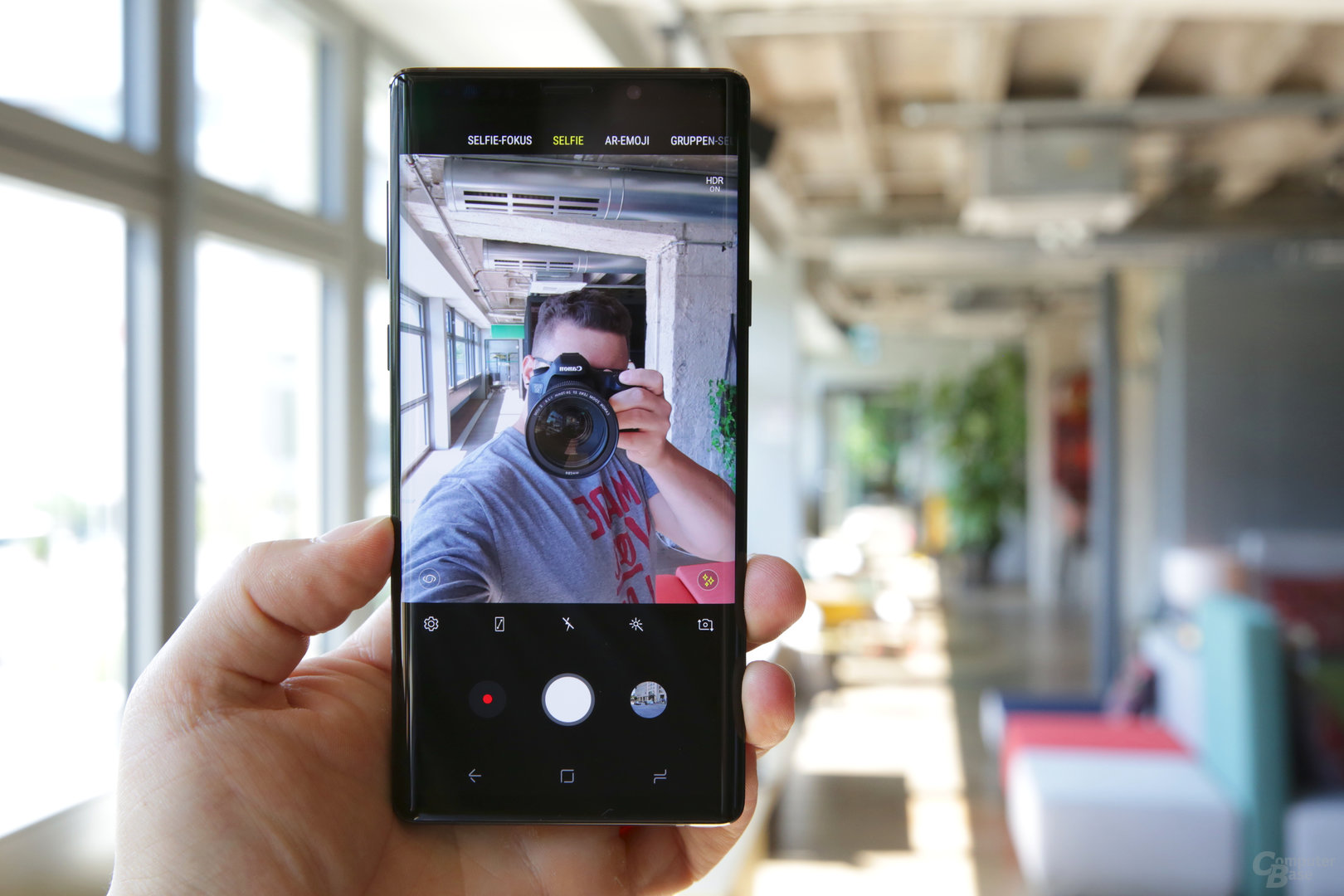 Kamera im Selfie-Modus