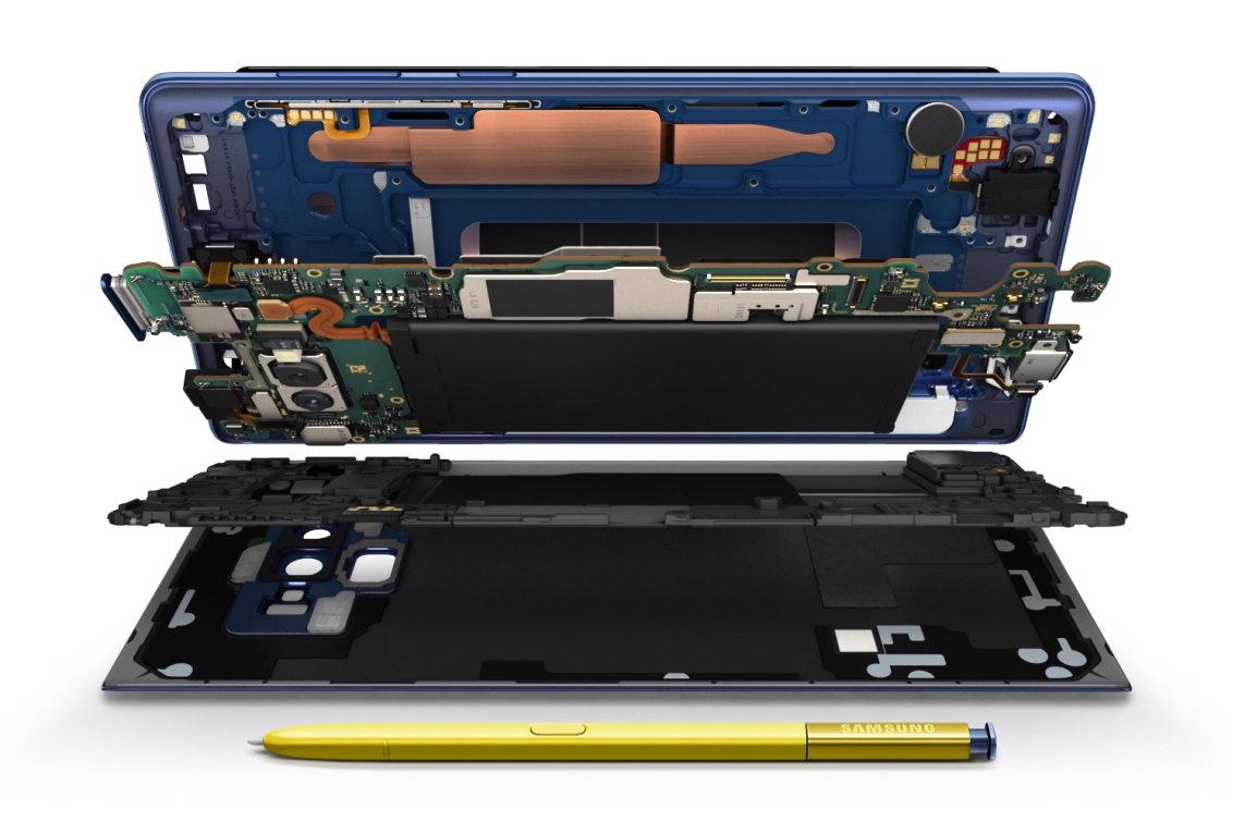 Der innere Aufbau des Galaxy Note 9