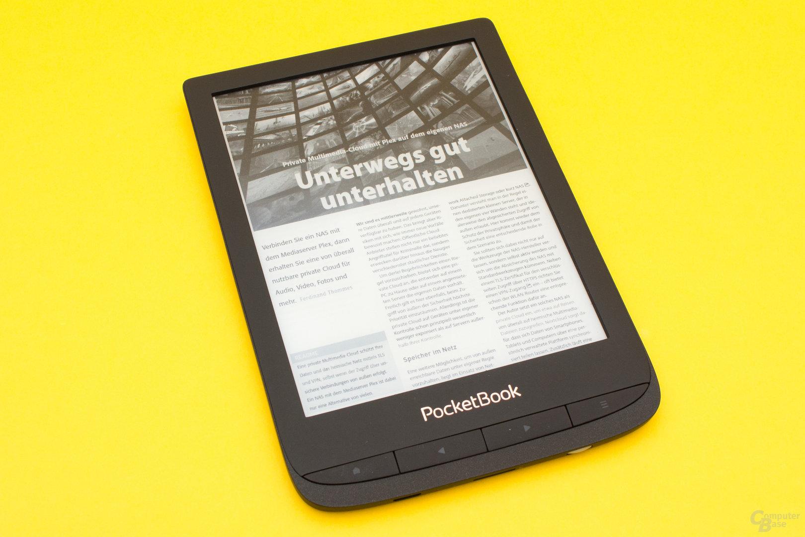Trotz Croppen der Seitenränder sind eMagazine auf dem Touch Lux 4 nur schwer lesbar...
