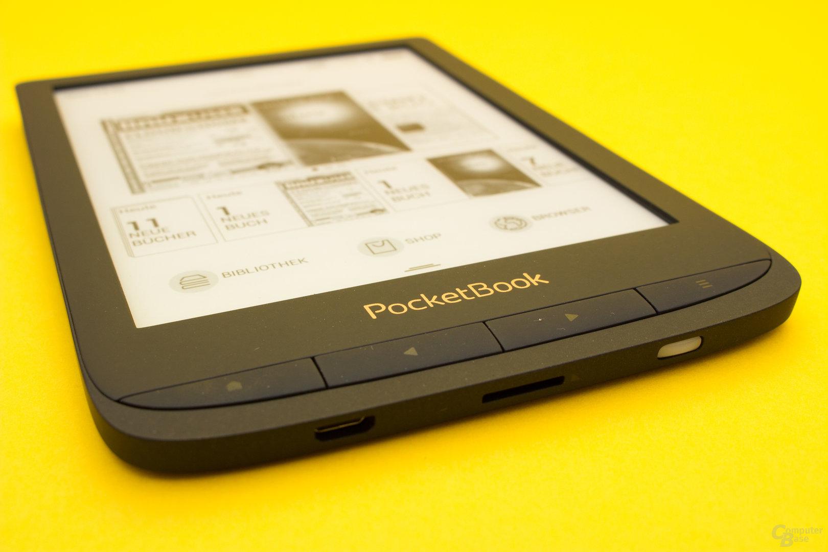 PocketBook gleicht beim Touch Lux 4 die Blättertasten der aktuellen Design-Sprache an
