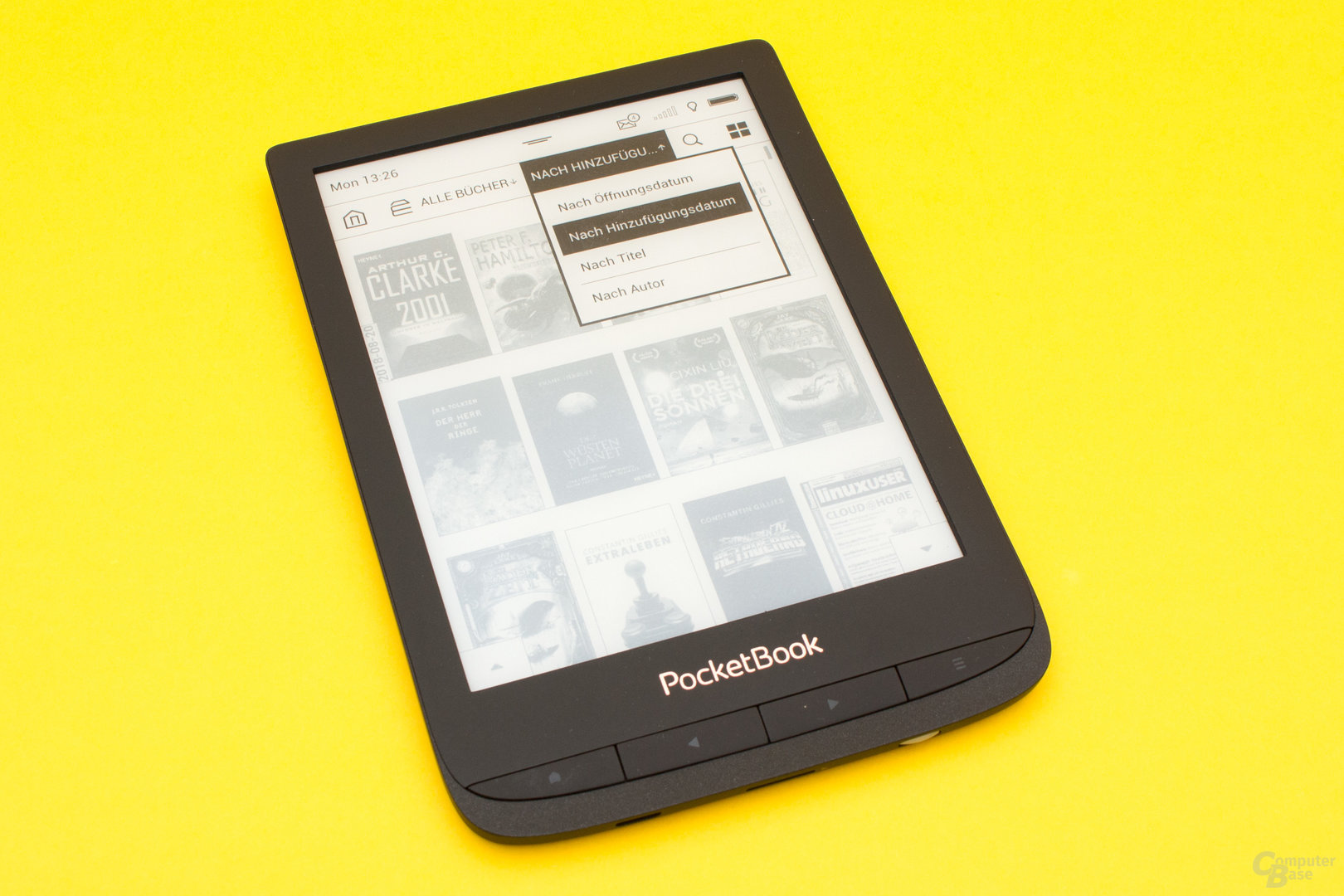 Die Bibliothek des Touch Lux 4 mit vielfältigen Filtermöglichkeiten