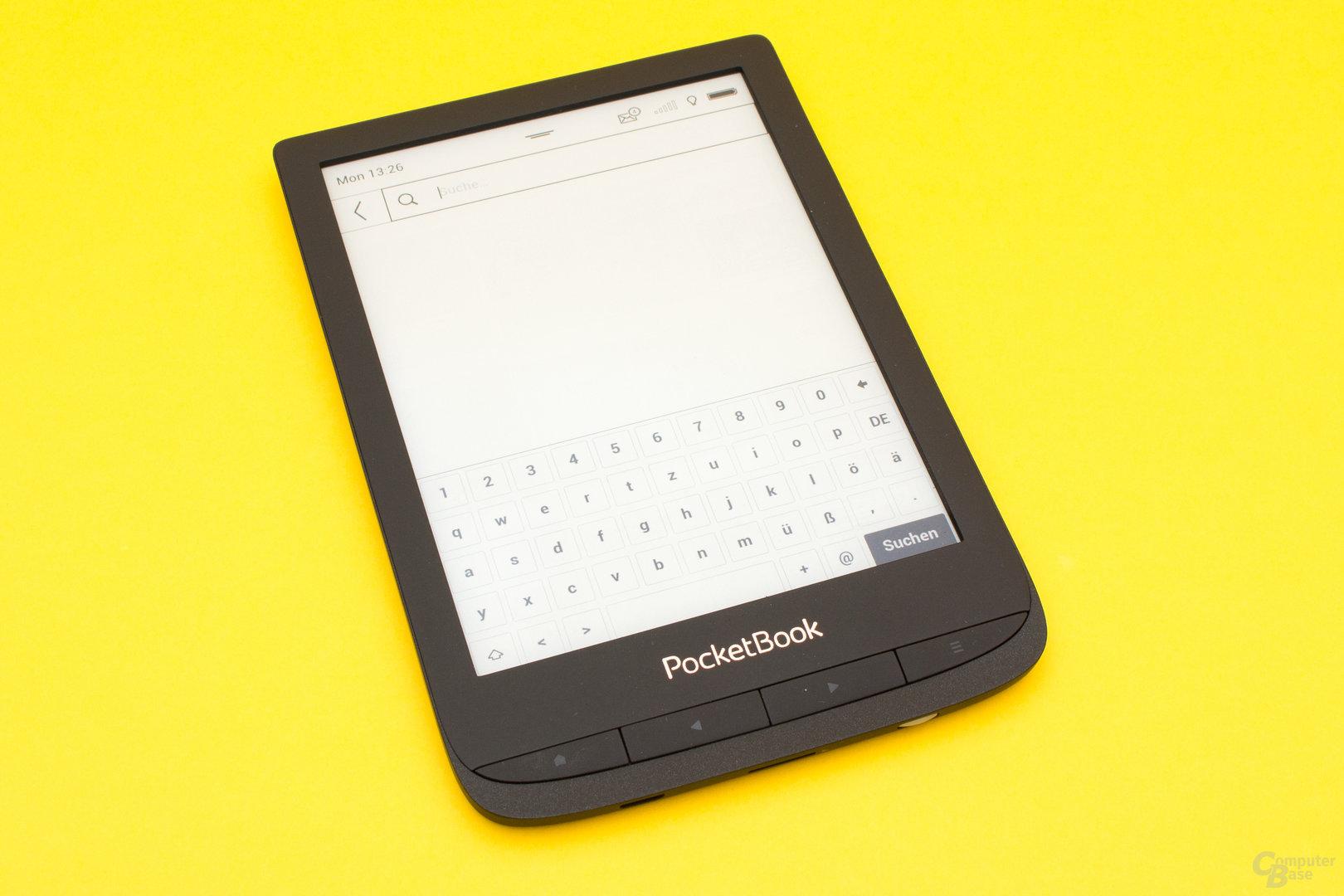 Die schnelle virtuelle Tastatur des PocketBook Touch Lux 4
