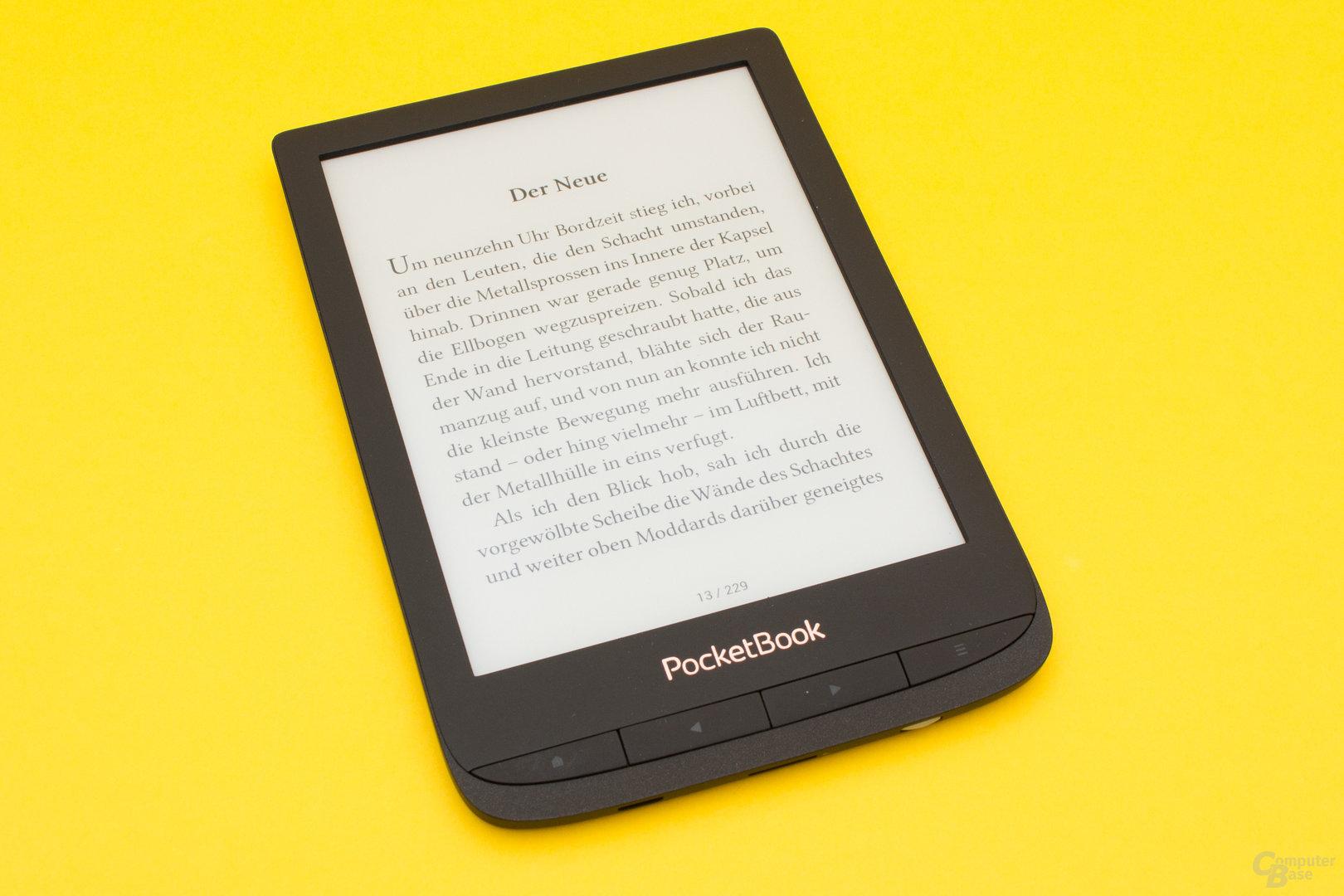 Der PocketBook Touch Lux 4 ermöglicht komfortables Lesen – auch ohne HD-Auflösung