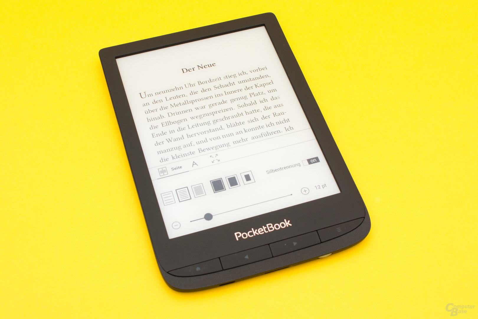 Diverse Texteinstellungen beim PocketBook Touch Lux 4
