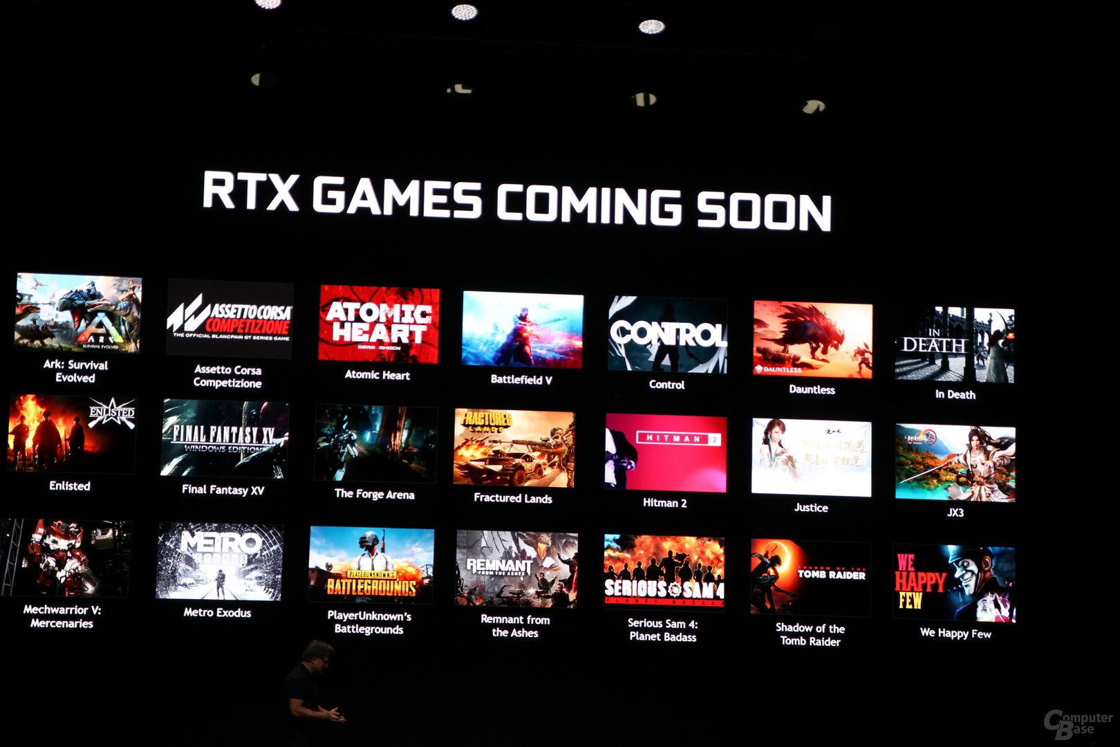 Kommende Spiele mit Support für Nvidia RTX