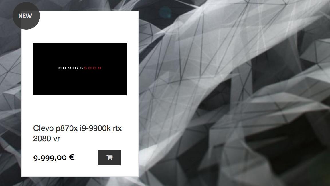 Clevo P870X: Händler listet Notebook mit GeForce RTX 2080 und i9-9900K