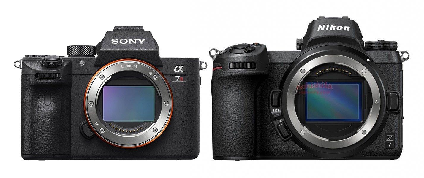 Nikon Z im Größenvergleich mit der Sony Alpha 7R