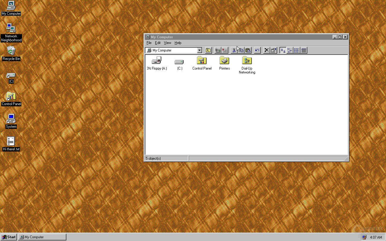 Windows 95 als App für Windows, macOS und Linux