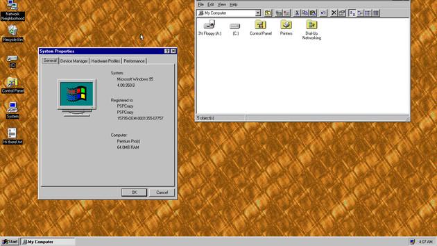 23 Jahre später: Windows 95 lebt als App für Windows, macOS und Linux
