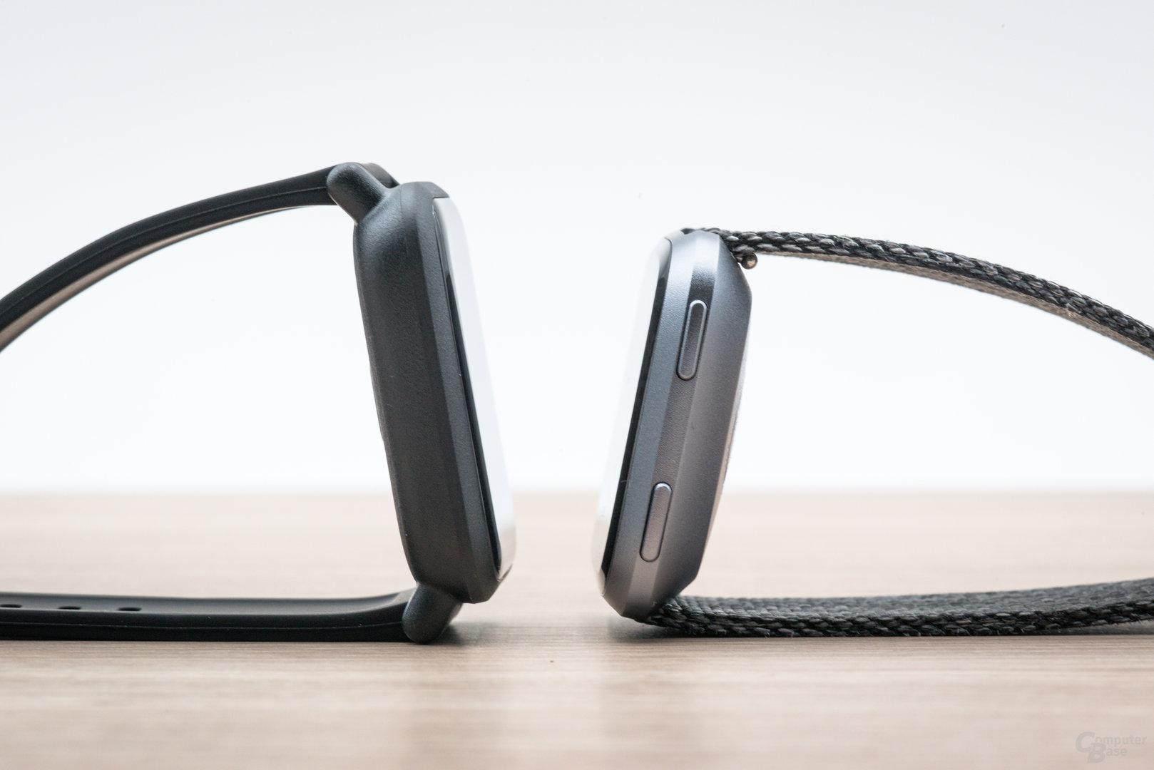 Xiaomi Amazfit Bip im Test: Im Vergleich mit der Fitbit Versa