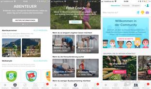 Fitbit Versa: App-Menü