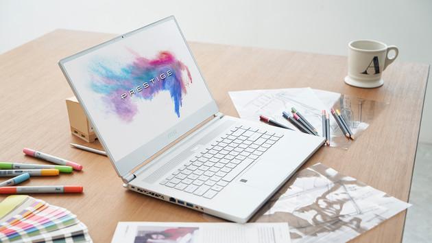 MSI Creator P65: Weißes Notebook mit Coffee Lake-H, GTX 1070 und RJ-45