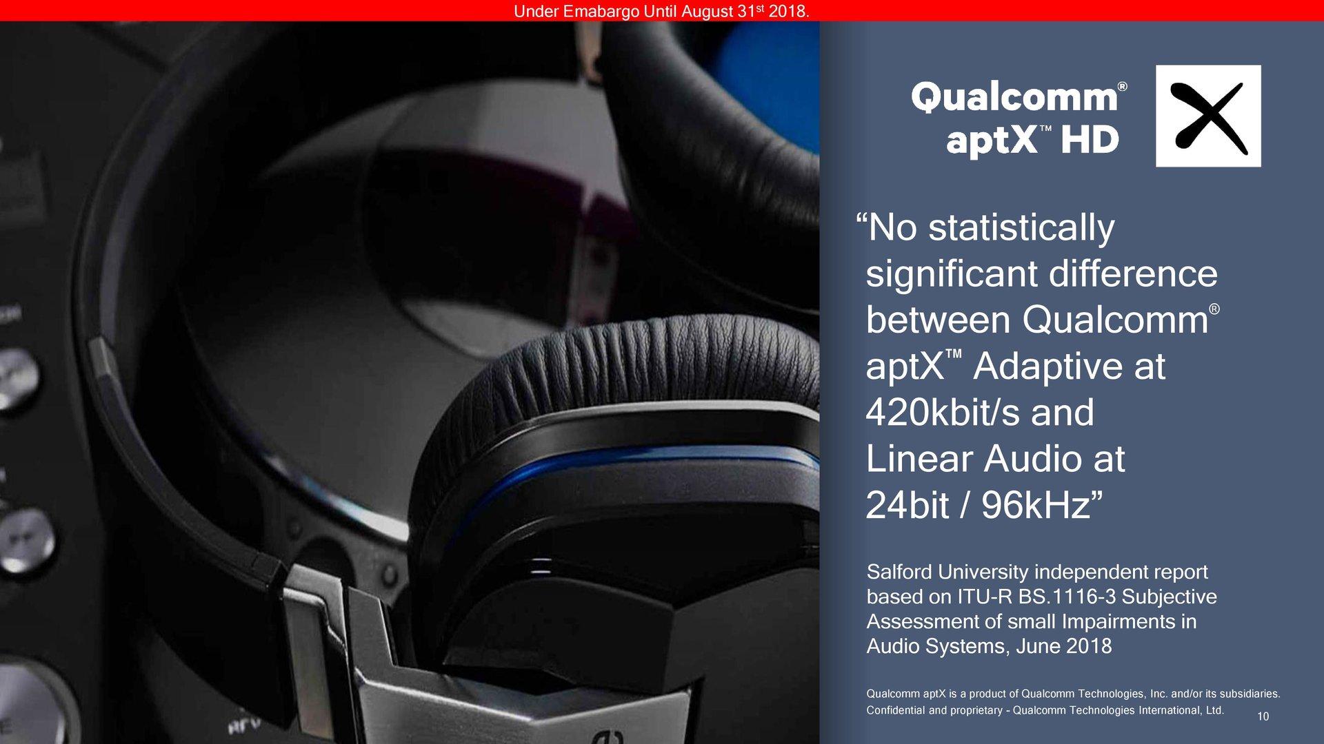 aptX Adaptive im Vergleich zur Anbindung per Kabel
