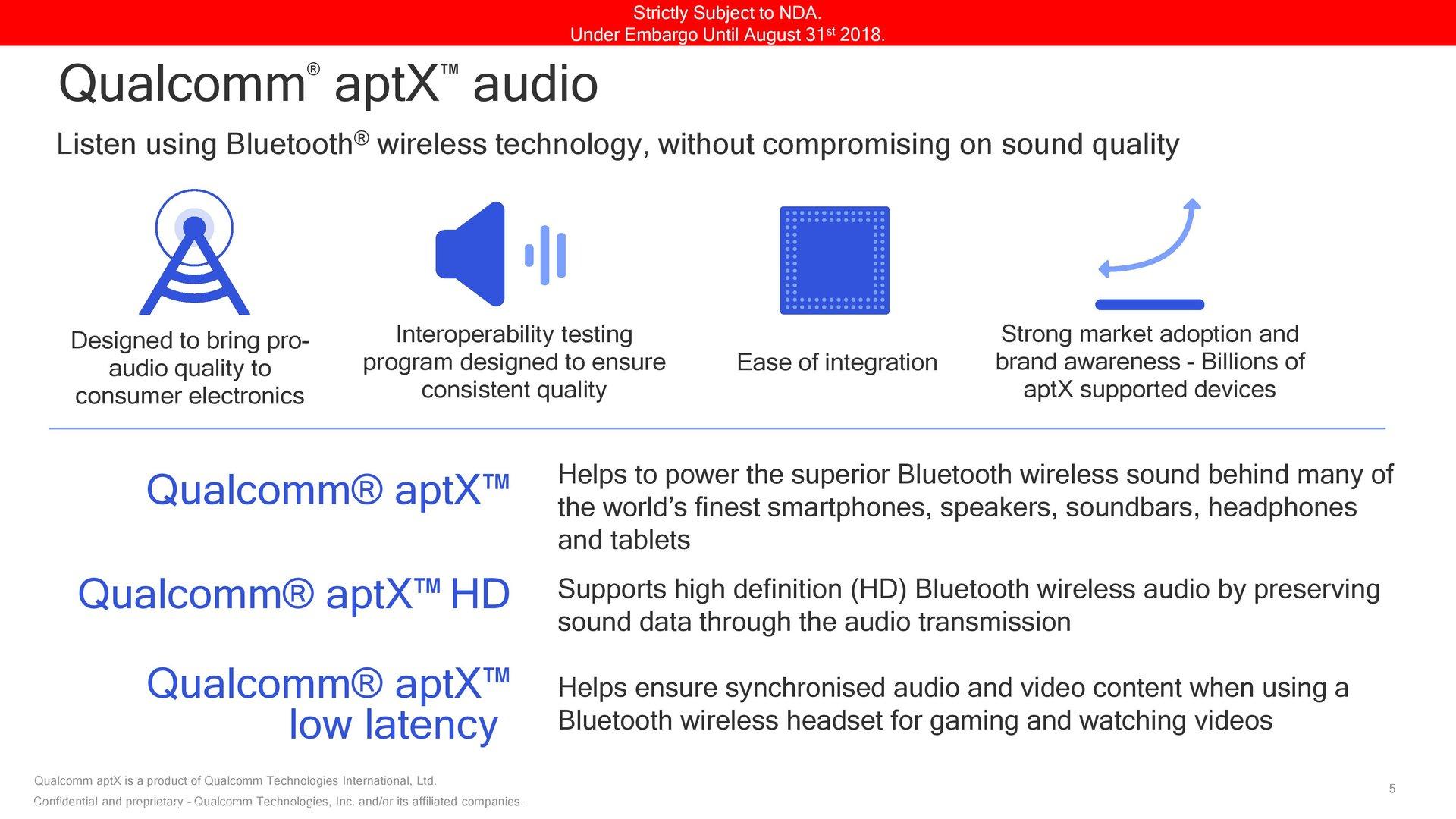 aptX Adaptive folgt auf aptX, aptX HD und aptX Low Latency