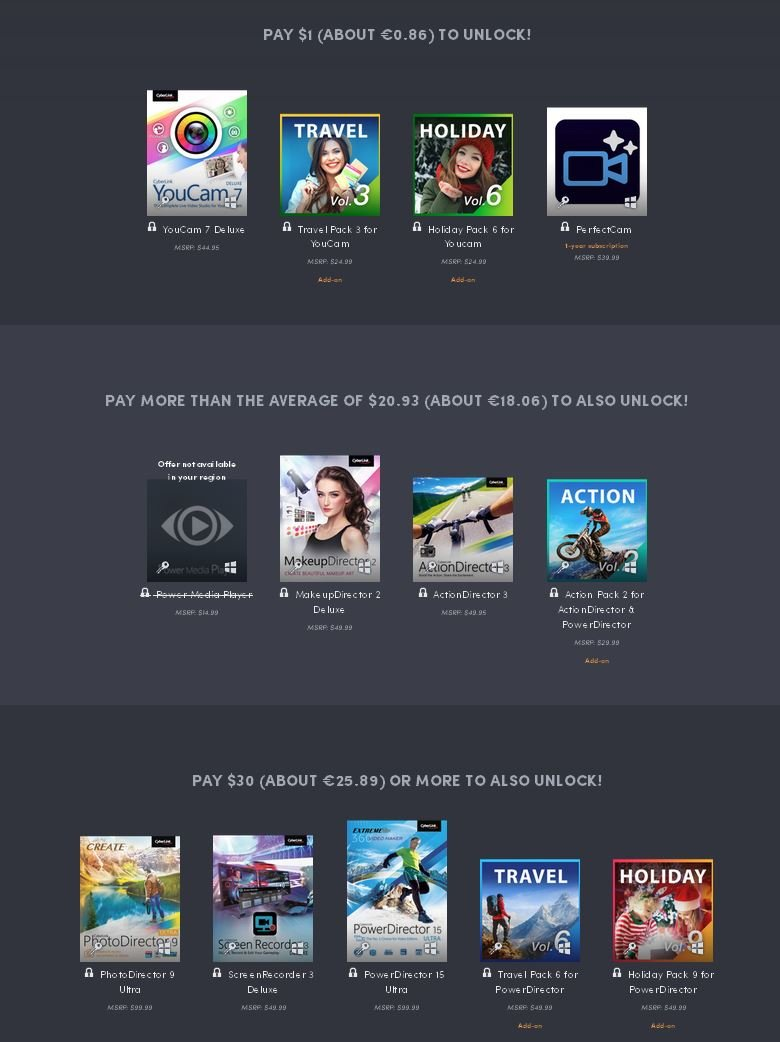 Humble Bundle mit Software von CyberLink