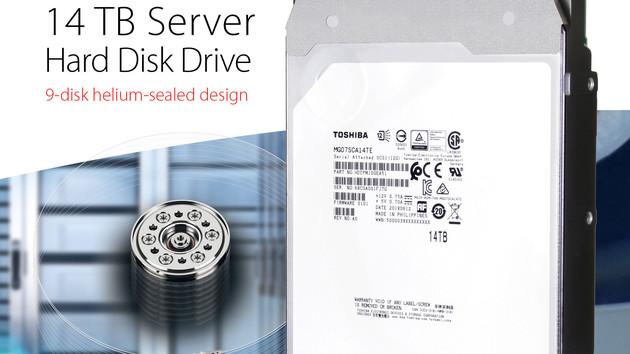 Toshiba MG07SCA: 14-TB-Helium-Festplatte jetzt auch mit SAS-Schnittstelle