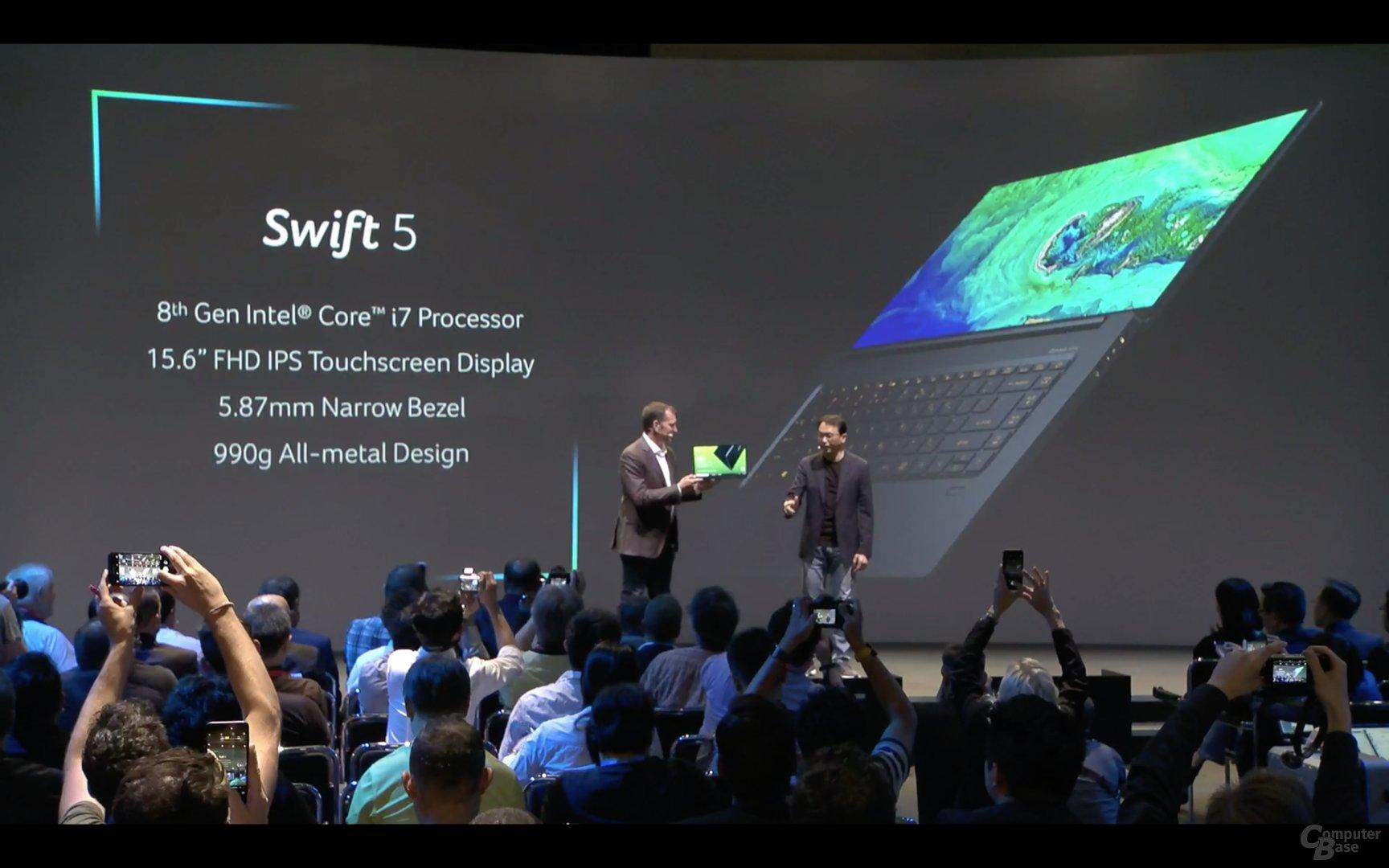 Das neue Acer Swift 5 mit 15 Zoll und nur 990 Gramm Gewicht