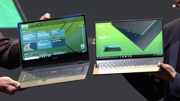 Acer Swift 7: Das dünnste Notebook der Welt schrumpft deutlich