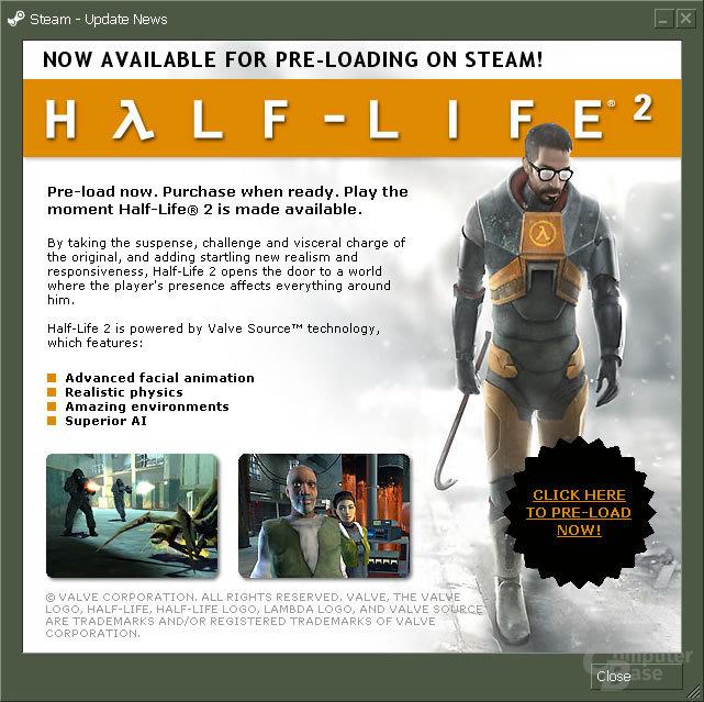 Half Life 2 Preload hat begonnen!