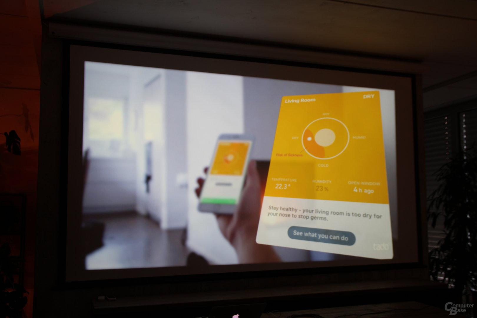 Mehr Informationen zur Luftqualität in der Tado-App