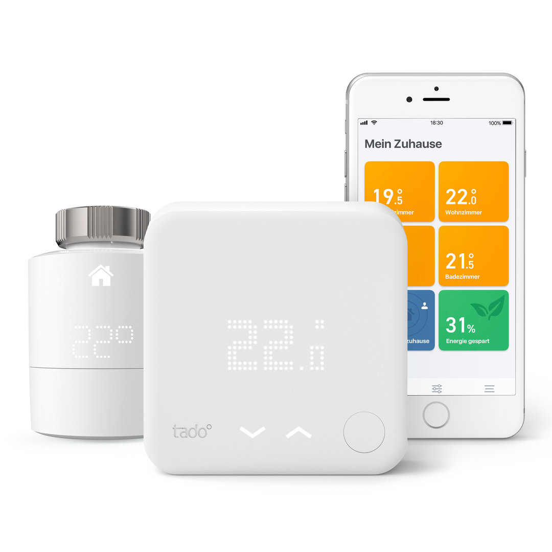 Tado: Smartes Heizkörper-Thermostat, smartes Thermostat und App