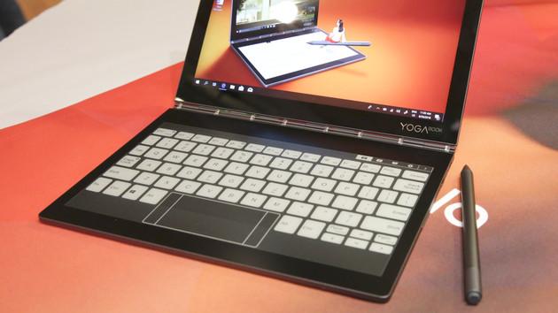 Lenovo: Im Yoga Book C930 ist ein E-Ink-Display die Tastatur