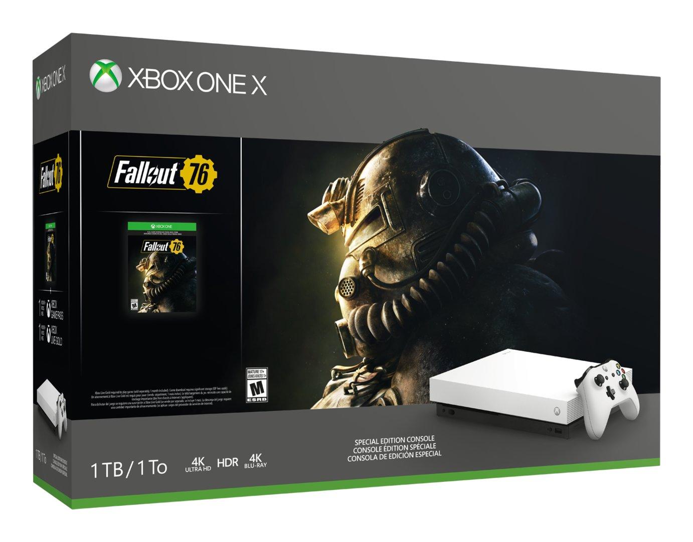 Weiße Xbox One X im Fallout-Bundle