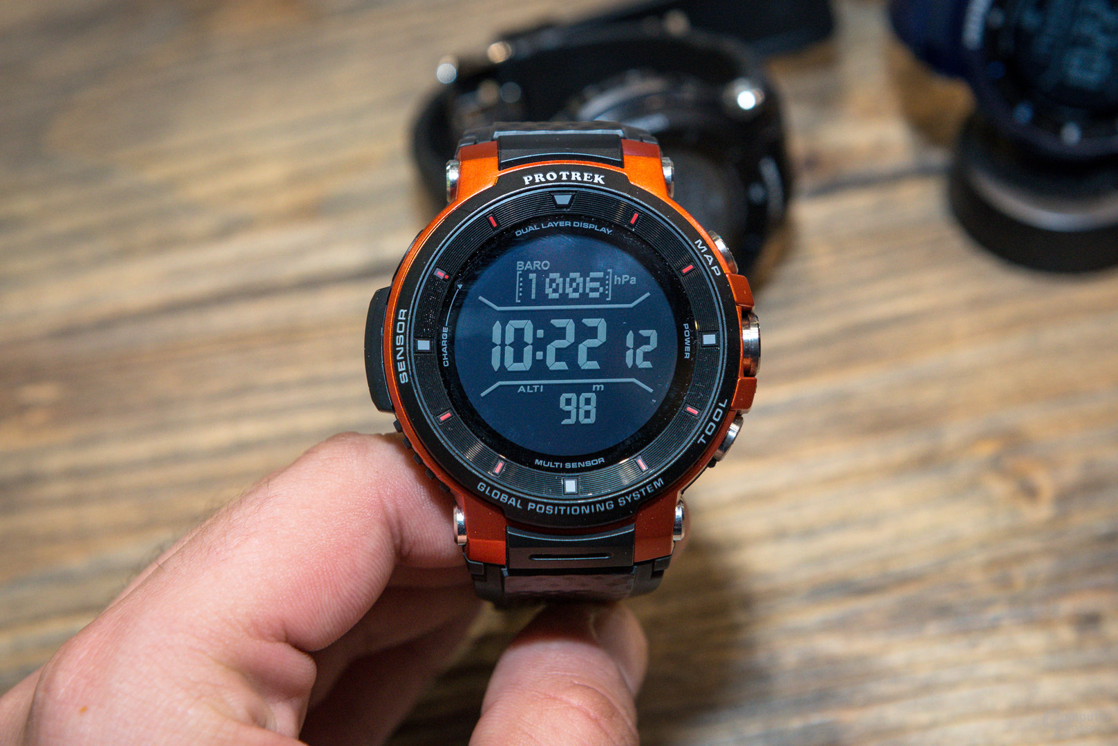 Casio Pro Trek Smart WSD-F30: Monochromes Display