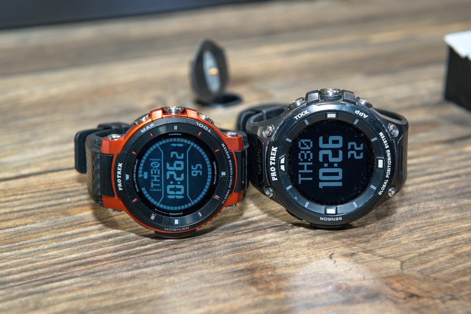 Casio Pro Trek Smart WSD-F30: Im Größenvergleich