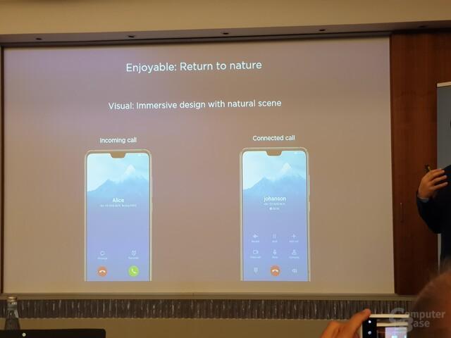 Neues Design für Anrufe