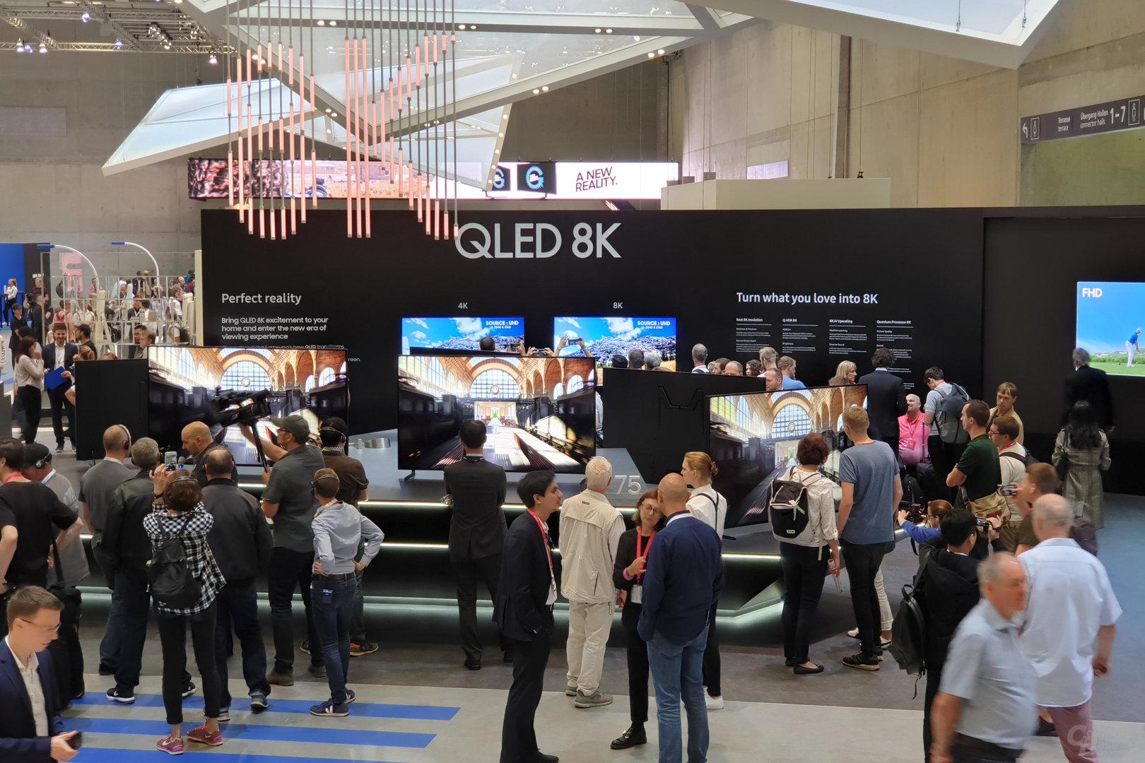 Die 8K-Insel am Stand von Samsung