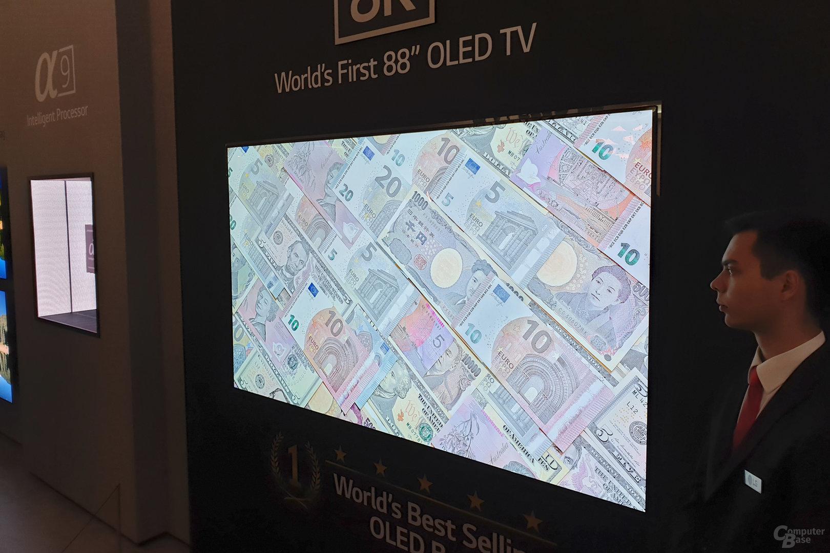 88-Zoll-OLED von LG auf der IFA