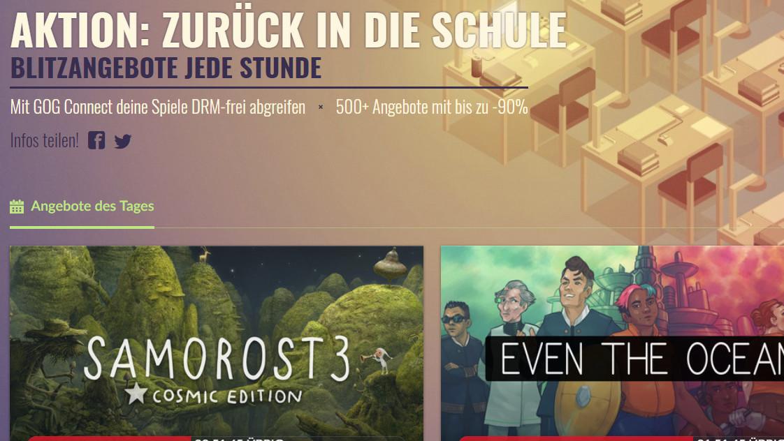 Back to School Sale: Über 500 Spiele bei GOG im Angebot