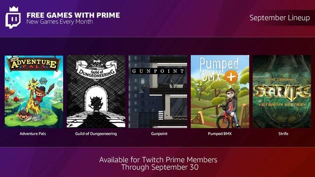 Twitch-Prime: September-Bundle umfasst fünf Gratis-Spiele