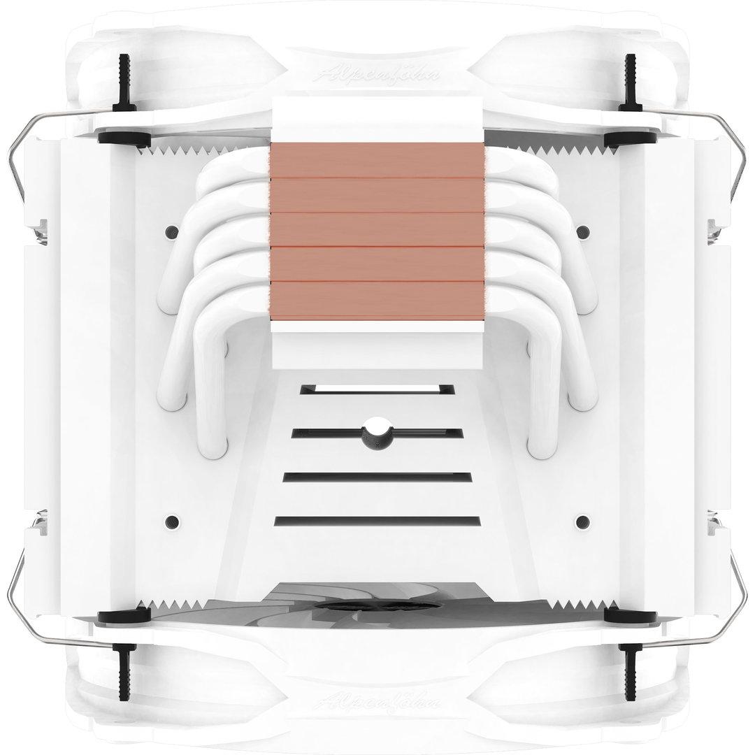 Alpenföhn Brocken 3 White Edition: Weißer Tower-Kühler mit zwei 140-mm-Lüftern