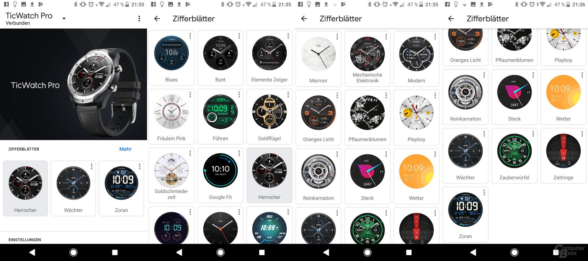 Mobvoi TicWatch Pro: Wear OS für Ziffernblätter